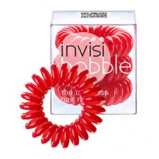 Hair Ring 3-pack Raspberry Red